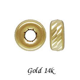 デポー 14Kゴールドパーツを使って高級感あふれるアクセサリーを ゴールド 14金 ビーズ ロンデル マルチカット 4.0mm 商い K14 14K イエローゴールド 《3個セット》