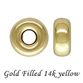 高級感のあるゴールドフィルドパーツ 金層が厚いのではがれにい お手頃な価格でゴールドをお楽しみください 送料無料カード決済可能 10個 14Kイエロー ゴールドフィルド ロンデルビーズ 4mm 穴径1.2mm filled アクセサリーパーツ gold 14KGF K14GF 金具 定価 fb18-14y-4