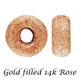 ディスカウント 高級感のあるゴールドフィルドパーツ 金層が厚いのではがれにい 珍しいピンクカラーです お手頃な価格でゴールドをお楽しみください 10個 14Kピンク ゴールドフィルド ローズ ロンデルスターダストビーズパーツ 金具 4mm goldfilled 約 アクセサリーパーツ fb19-14p-4 K14GF おトク 14KGF 切れ目なし