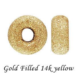 ゴールドフィルド ロンデルスターダストビーズ 5mm 《100個》 gold filled K14GF 14KGF 金具 14Kイエロー