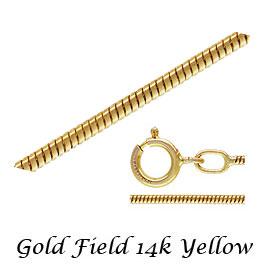 高級感のあるゴールドフィルドパーツ 金層が厚いのではがれにい お手頃な価格でゴールドをお楽しみください ゴールドフィルド スネークチェーン 未使用 ネックレスチェーン 線形 完成品 14Kイエロー T1.0mm 14KGF 大規模セール 《40cm》