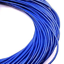le-ali-blue2 ラウンドレザーコード/本革紐/皮ひも 牛革/cow lether 約幅2mmx長さ100m 各種カラー