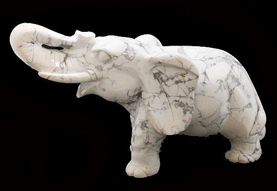 天然石 ハウライト(マグネサイト) 像 エレファント 彫刻1点もの 原石 コレクション パワーストーン スピリチュアル ヒーリング