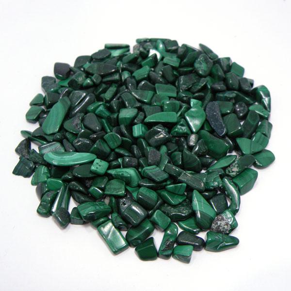 マラカイト 【さざれチップ】 (穴なし) 《約500g》 量り売り 天然石 浄化用チップ