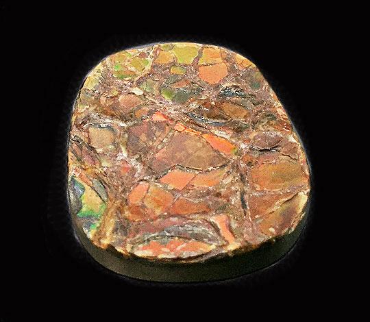 【送料無料】天然石 アンモライト(ammolite) 原石(貼り合わせ)/1点もの 約15g 約37x31x6mm  コレクション インテリア 置物 置石 gs-sp-700