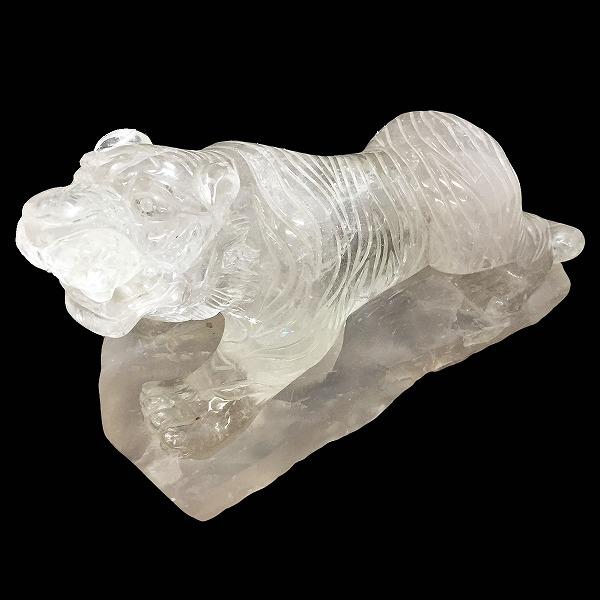 クォーツ水晶/トラ彫刻【1点限定】 天然石 原石 パワーストーン スピリチュアル ヒーリング コレクション