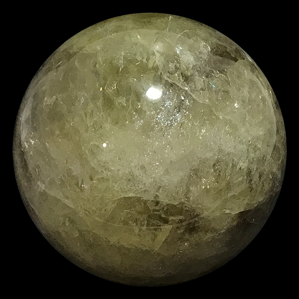 レモンクォーツ 丸玉 約90mm /スピリチュアルインテリア パワーストーン 磨き石 一点もの