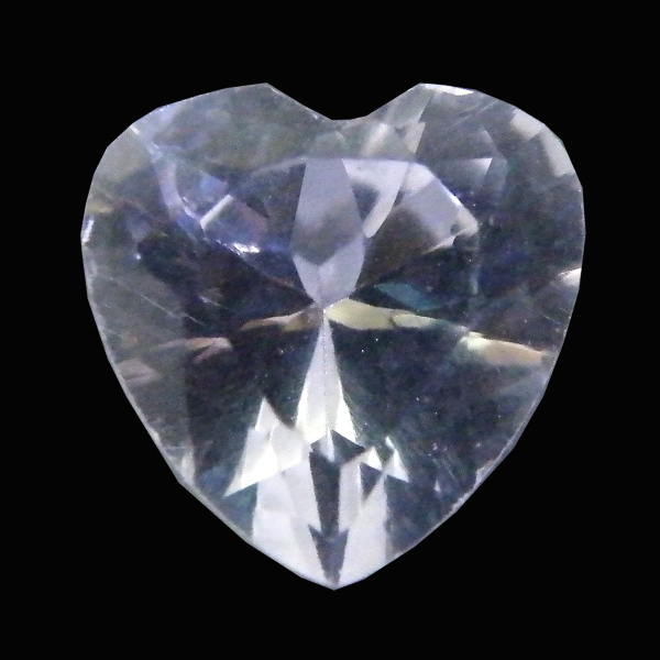 Artificial composition white sapphire heart cut Ruth nature stone nude stone