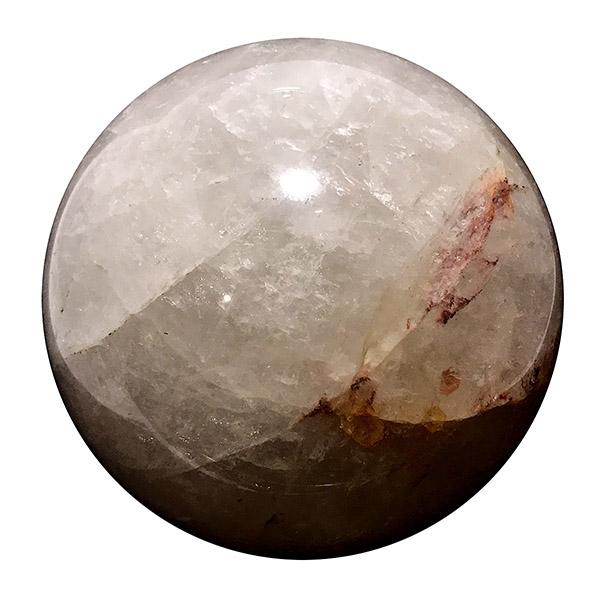 クォーツ水晶 【丸玉 1点もの】 約120115mm /スピリチュアルインテリア パワーストーン 磨き石