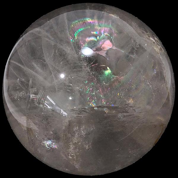 クォーツ水晶 【丸玉 1点もの】 約110115mm /スピリチュアルインテリア パワーストーン 磨き石