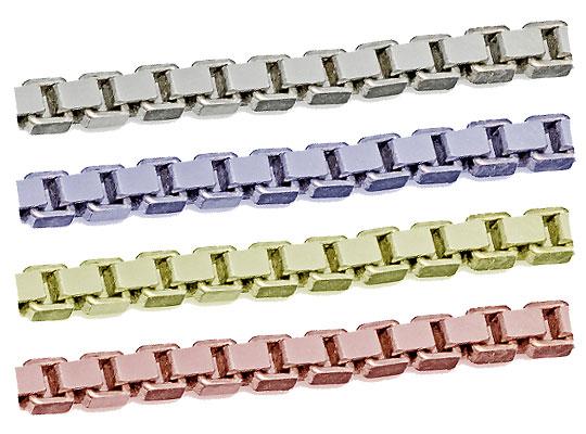 シルバーチェーン ボックスチェーン 切り売り サイズ(幅 約:0.8mm 長さ:10m) シルバー925 ロジウムカラーコーティング