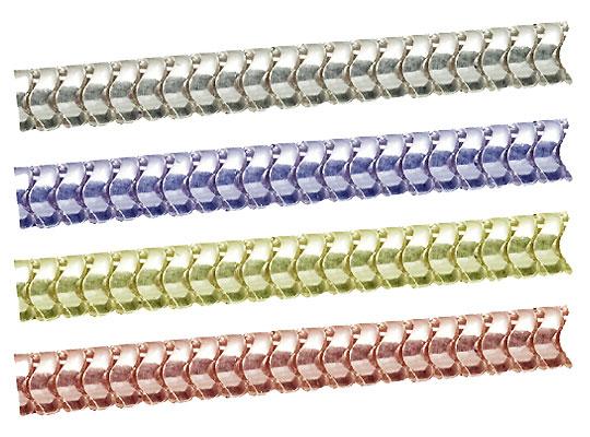 シルバーチェーン スネークチェーン  完成品(ネックレス) サイズ(幅 約:1.3mm 長さ:45cm) 10本 シルバー925 イエローロジウムカラーコーティング