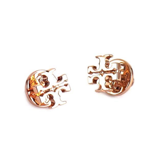 Tolly Birch Tory Burch Logo Stud Earring Pierced Earrings 11165504 652 Rose Gold