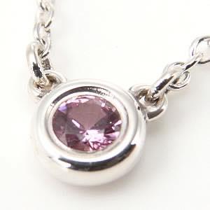 ティファニー Tiffany & Co. / エルサ・ペレッティ カラーバイザヤード ピンクサファイヤ 0.8ct ペンダント #25390474