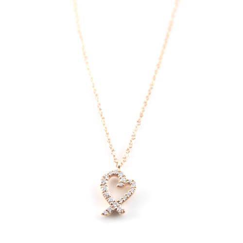 ティファニー Tiffany & Co. / ラビング ハート スモール ダイヤモンド 16in 18R ペンダント #26187869