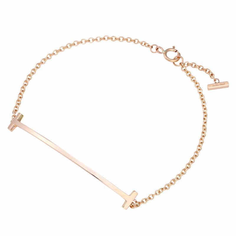 ティファニー Tiffany & Co. / Tスマイル SS 18cm ブレスレット #36667281