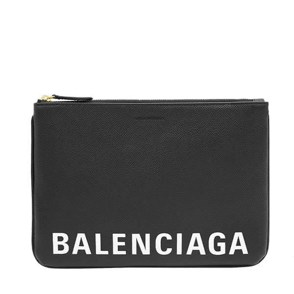 バレンシアガ BALENCIAGA / POUCH NEW M クラッチバッグ #579857 0TNM 1090 BLACK/L WHITE