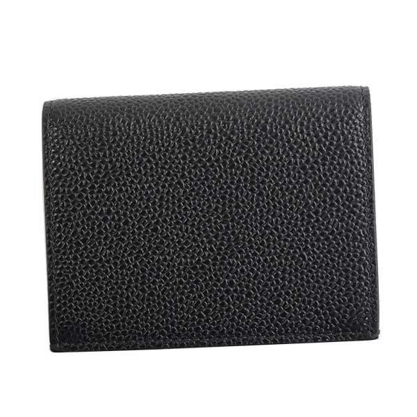 トム ブラウン THOM BROWNE / DOUBLE CARD HOLDER IN PEBBLE GRAIN カードケース #MAW021L-00198 001 BLACK