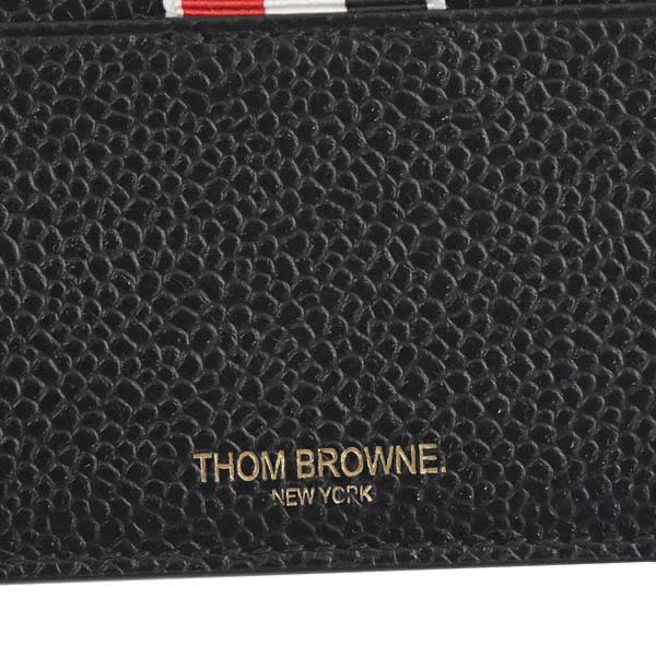 tom browne thom browne card holder wnote compartment in pebble grai card case maw031l 00198 001 black - Thom Browne Card Holder