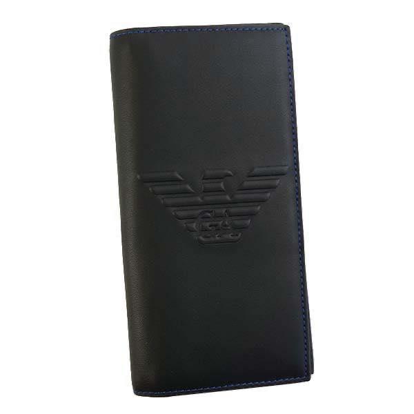 エンポリオアルマーニ EMPORIO ARMANI / LW フラップ長札入財布 #Y4R170 YG90J 81072 BLACK