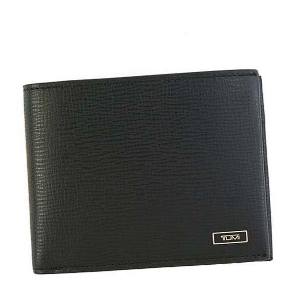 トゥミ TUMI / GLOBAL WALLET W/ COIN POCKET 二つ折財布 小銭入付 #119838 BLACK