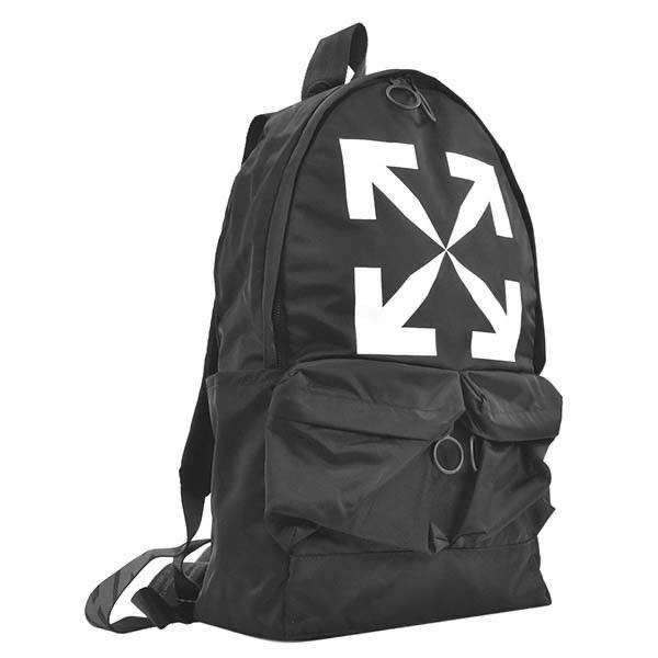 オフホワイト OFF-WHITE / ARROW BACKPACK BLACK WHITE バックパック #OMNB003R20E48020 1001 BLACK WHITE