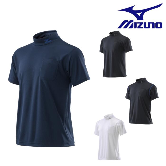 スポーツメーカーならではの圧倒的な着心地 ハイネックポケット付きのワークシャツ ミズノ mizuno ワークシャツ 半袖 現場 着 返品交換不可 作業 C2JA8182 ワーク ストアー
