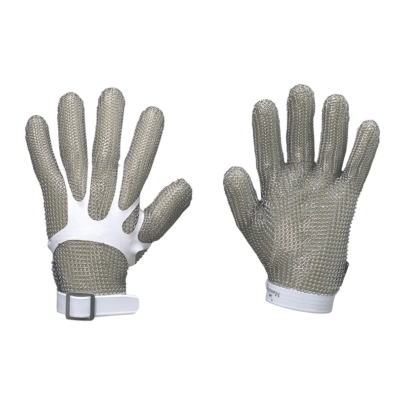鎖手袋 MC-8000 (1枚/片手用) |耐切創 保護 手袋 切れない いたくない 痛くない てぶくろ グローブ メンズ 作業 作業用 業務用 機械 整備 農業 園芸 土木 港湾