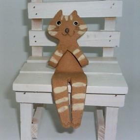 かわいいねこ型の置物ですお好きな場所に座らせてください 売店 お座りにゃんこ C ハンドメイド 日本製 一部予約 美濃焼