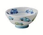 子供たちに人気の動物や 乗り物 を描いた 与え 子供食器シリーズ電子レンジ 食洗機 有名な 乾燥機 美濃焼 VP茶碗日本製 OK贈り物にもいかがでしょう 働く自動車 青 白磁