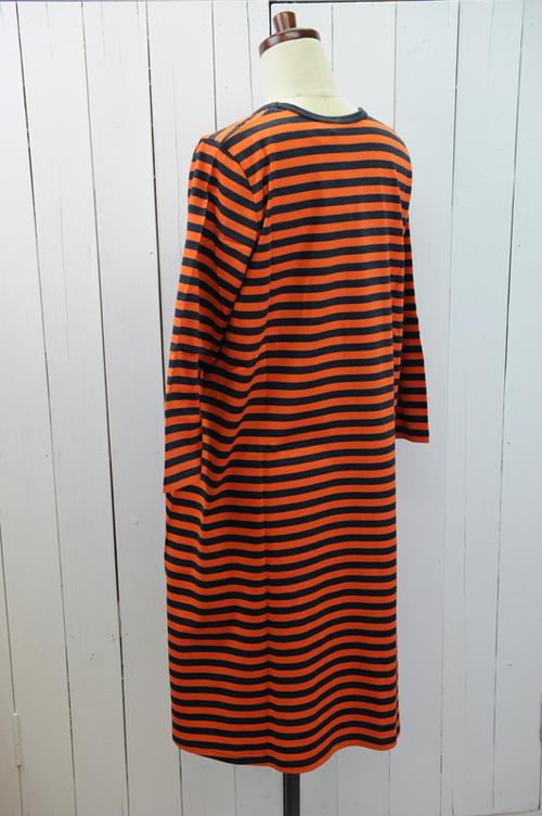 marimekko マリメッコTIIATASARAITA JERSEY ワンピース色 オレンジ×グレー日本正規取扱店送料無料02P03Dec16MVqSUpz