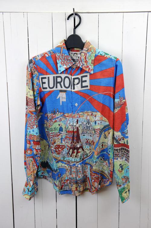 BOHEMIANS(ボヘミアンズ)『SHIRTS』YOKOO MAP 長袖カラーシャツ 色:(マルチ) ※日本正規取扱店 (送料無料)02P03Dec16