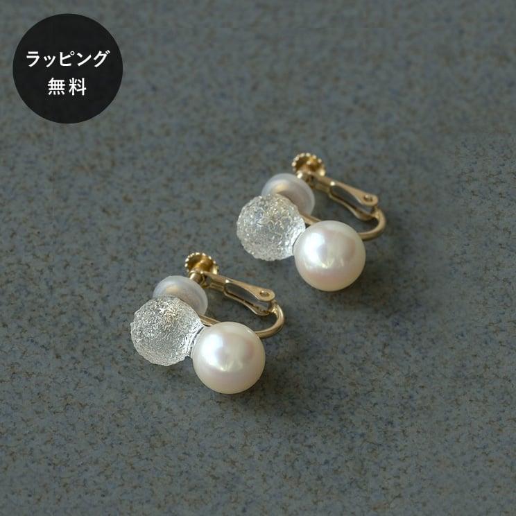 HARIO ハリオ イヤリング スノーパール K10 真珠