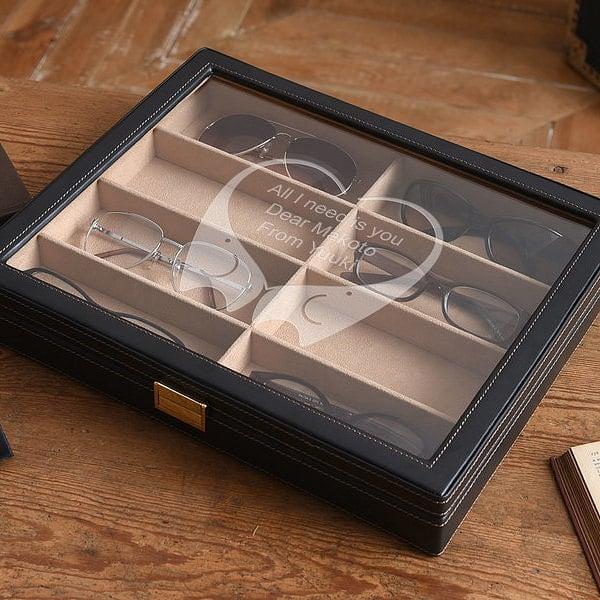 メガネと腕時計 タイピン&カフスセット 名入れ