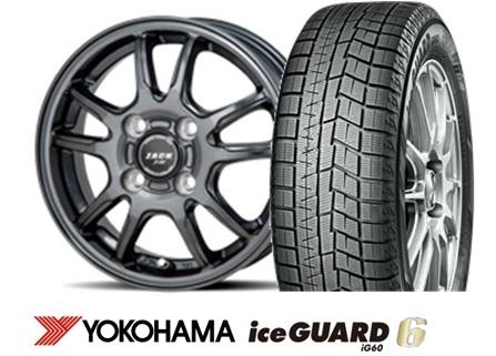 ヨコハマ ice GUARD 6 iG60 185/70R14ZACK JP520 14インチSET