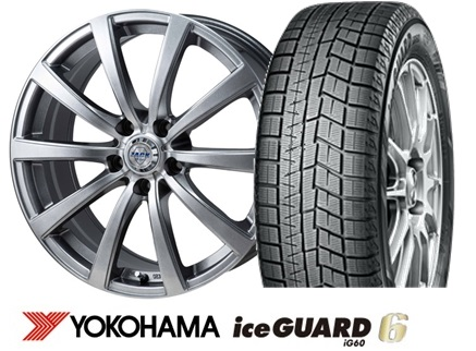 ヨコハマ ice GUARD 6 iG60 235/50R18ZACK JP110 18インチSET