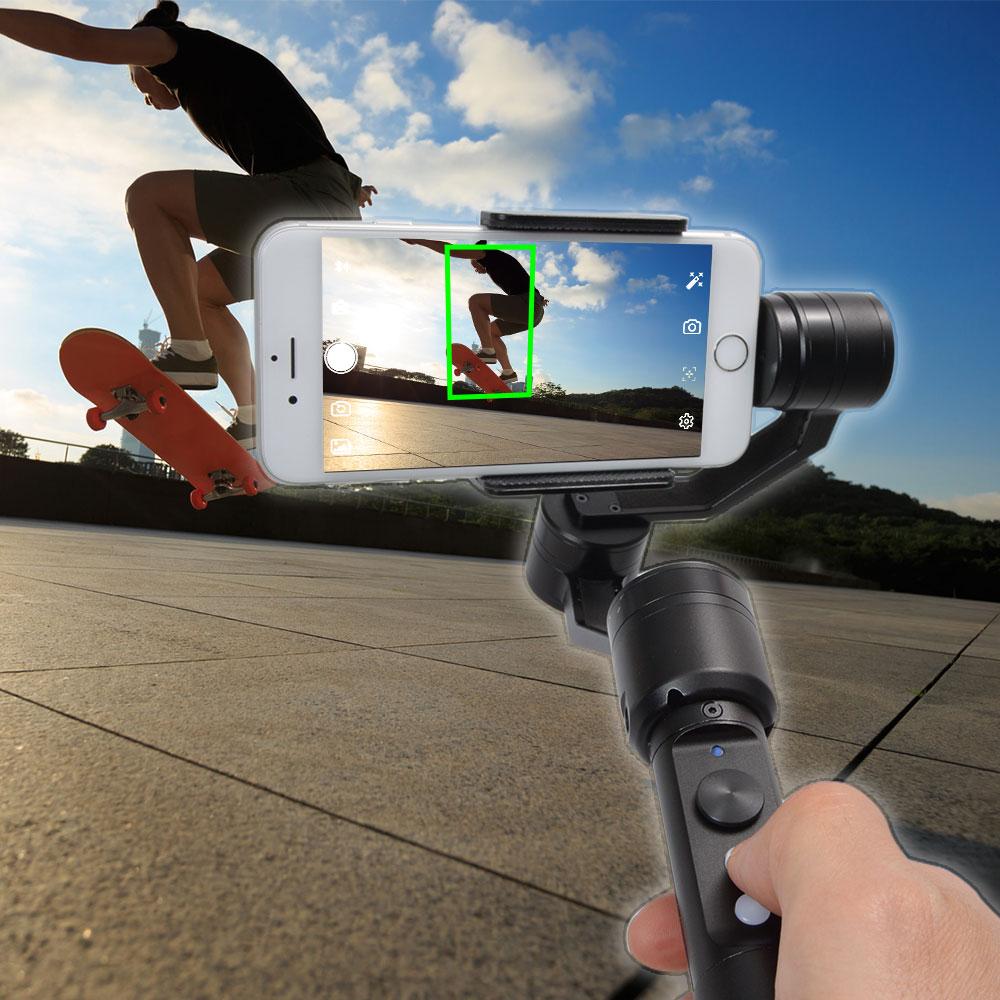 自動追尾システム3軸32bit電子制御カメラスタビライザー FACRSTAB android専用 手ブレ補正 カメラ撮影 スマホ