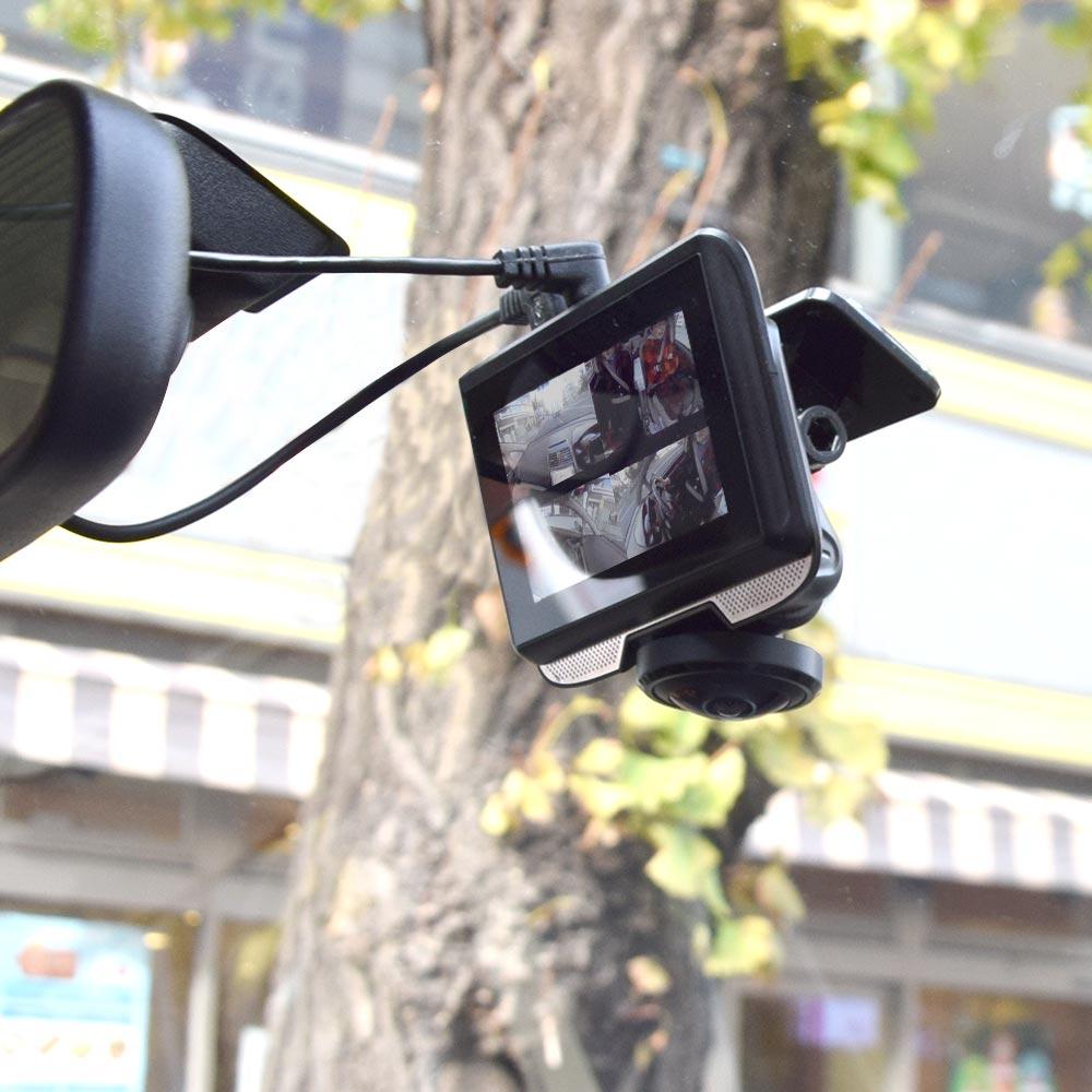 3インチ360度ドライブレコーダー&リアカメラ DR360D3R ドラレコ 前後 リア 後方 2カメラ 車 格安 フロントカメラ リアカメラ モニター