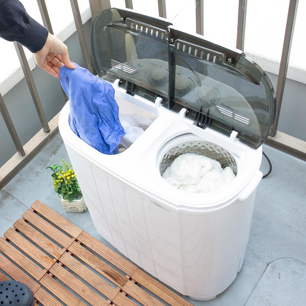 [公式]小型二槽式洗濯機「別洗いしま専科」3 STTWAMN3 二槽式 2槽式 洗濯機 小型 ミニ コンパクト 2台目 セカンド サブ 脱水 ランドリー 別洗い
