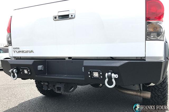 【個人宅への配送不可 / 代引不可 】PARAMOUNT(パラマウント)社製LED付き リアバンパーブラックパウダーコート仕上げ07-13y トヨタ タンドラPART# PM57-0407
