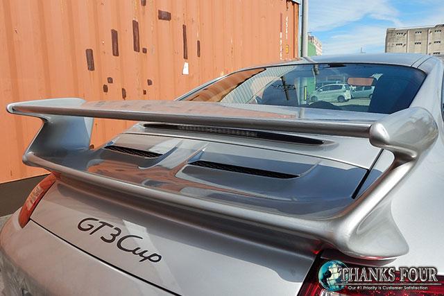 ポルシェ 911 997 カレラ カレラS 国内在庫 リアウイング※ダクトメッシュ 997前期 取付ステー付属 購買 MARVIN社製ポルシェ カレラSGT3タイプ セール品 サンクスフォー