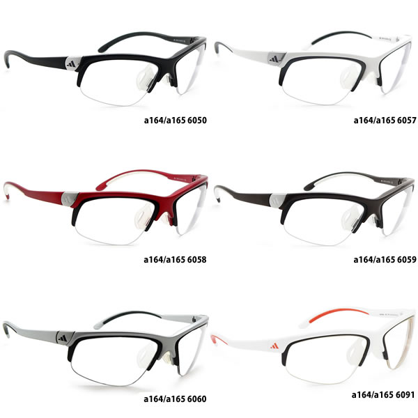 阿迪达斯 (adidas) 运动太阳镜 a164/a165 adivista RX 光学适配器设置