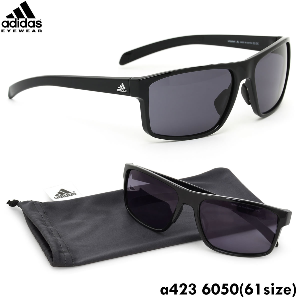 773ff25229e (Adidas) sunglasses a423 6050 61 size whipstart square sports sunglasses  adidas adidas outdoor men s women s points 10 times