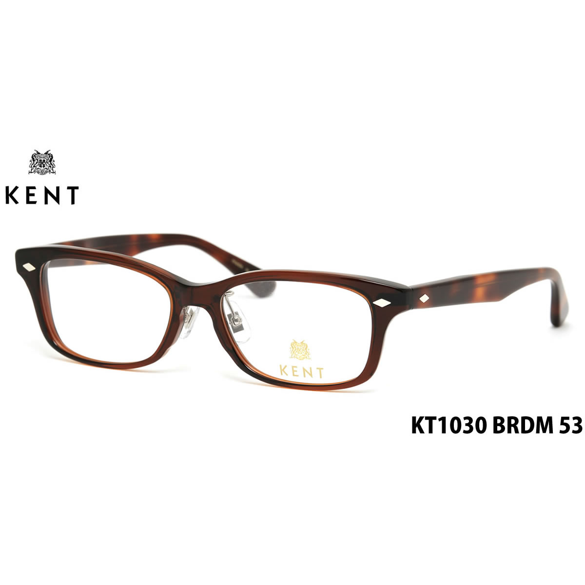 14時までのご注文は即日発送 KT1030 BRDM 53サイズ KENT ケント メガネ メンズ レディース 伊達メガネ用レンズ無料!! あす楽対応