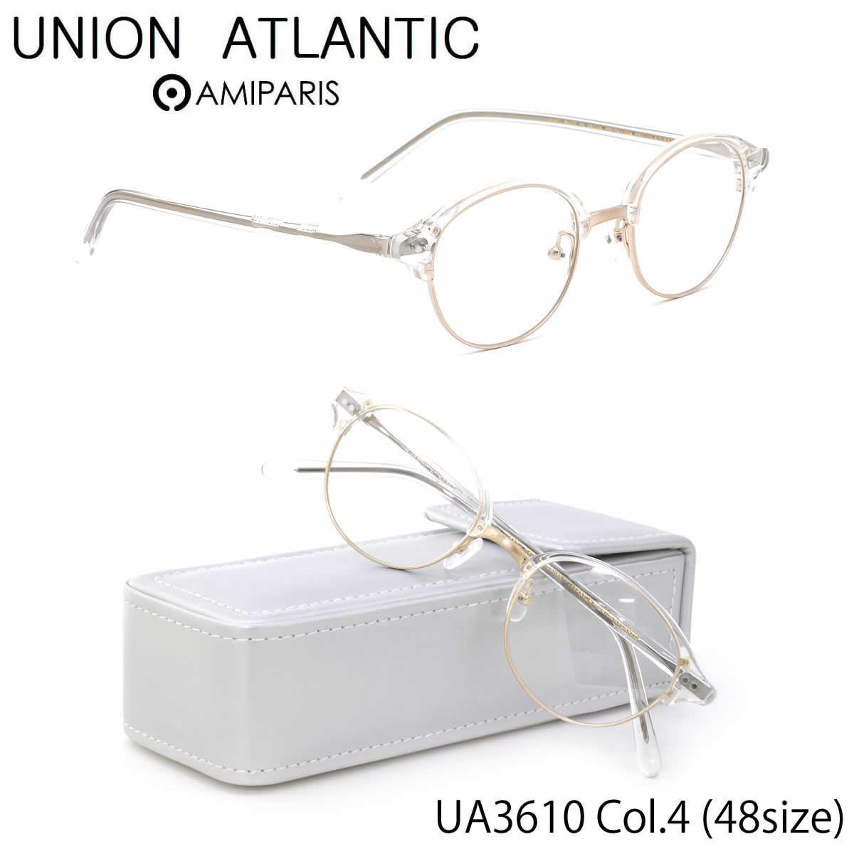 ユニオンアトランティック UNION ATLANTIC メガネ UA3610 4 48サイズ 日本製 丸メガネ コンビネーション AMIPARIS UNIONATLANTIC 伊達メガネレンズ無料 メンズ レディース