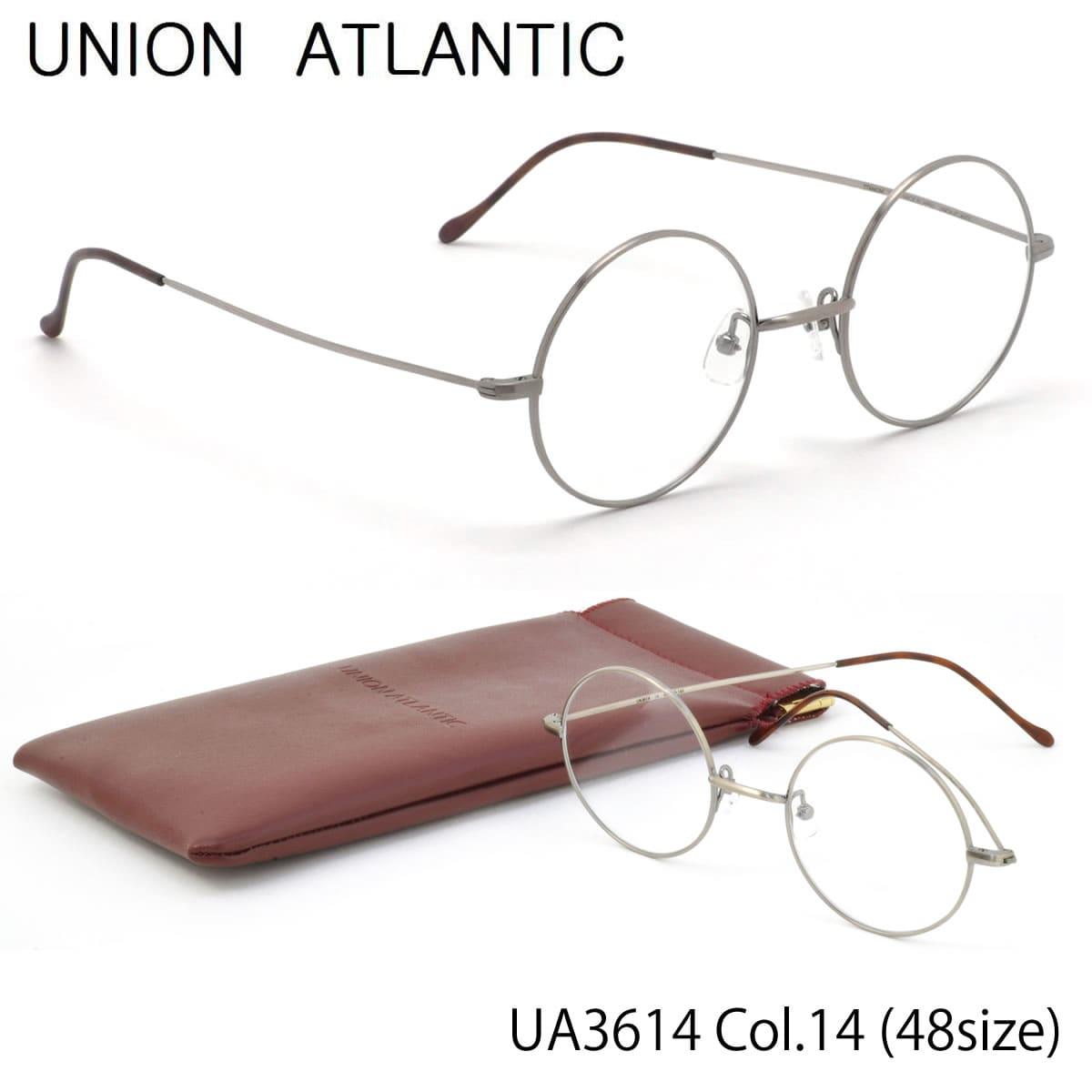 ポイント最大42倍!!お得なクーポンも !! 【ユニオンアトランティック】 (UNION ATLANTIC) メガネUA3614 14 48サイズ日本製 丸メガネ AMIPARISUNIONATLANTIC 伊達メガネレンズ無料 メンズ レディース