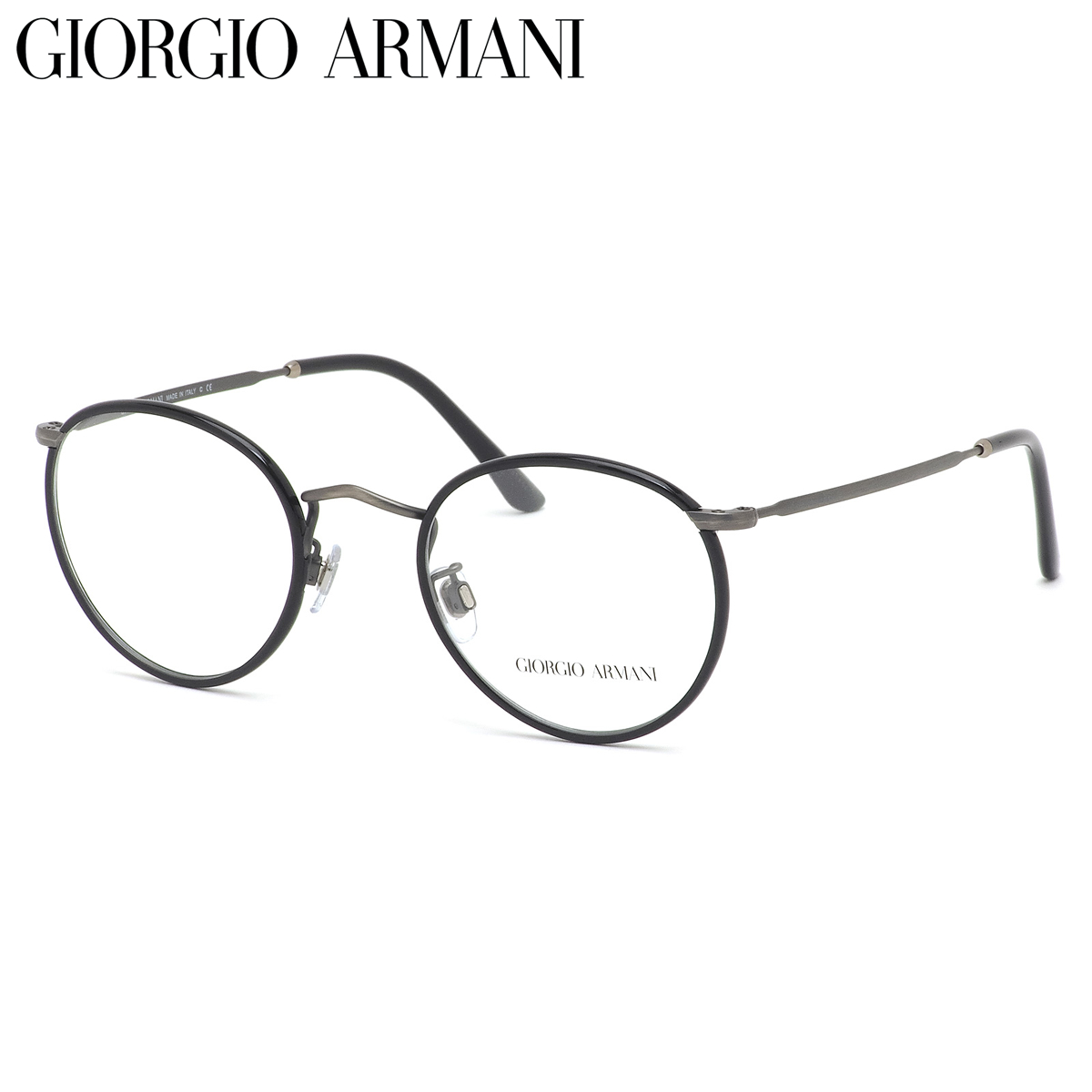 GIORGIO ARMANI ジョルジオアルマーニ メガネ AR112MJ 3260 49サイズ コンビネーション 黒縁 ジョルジオアルマーニGIORGIOARMANI メンズ レディース