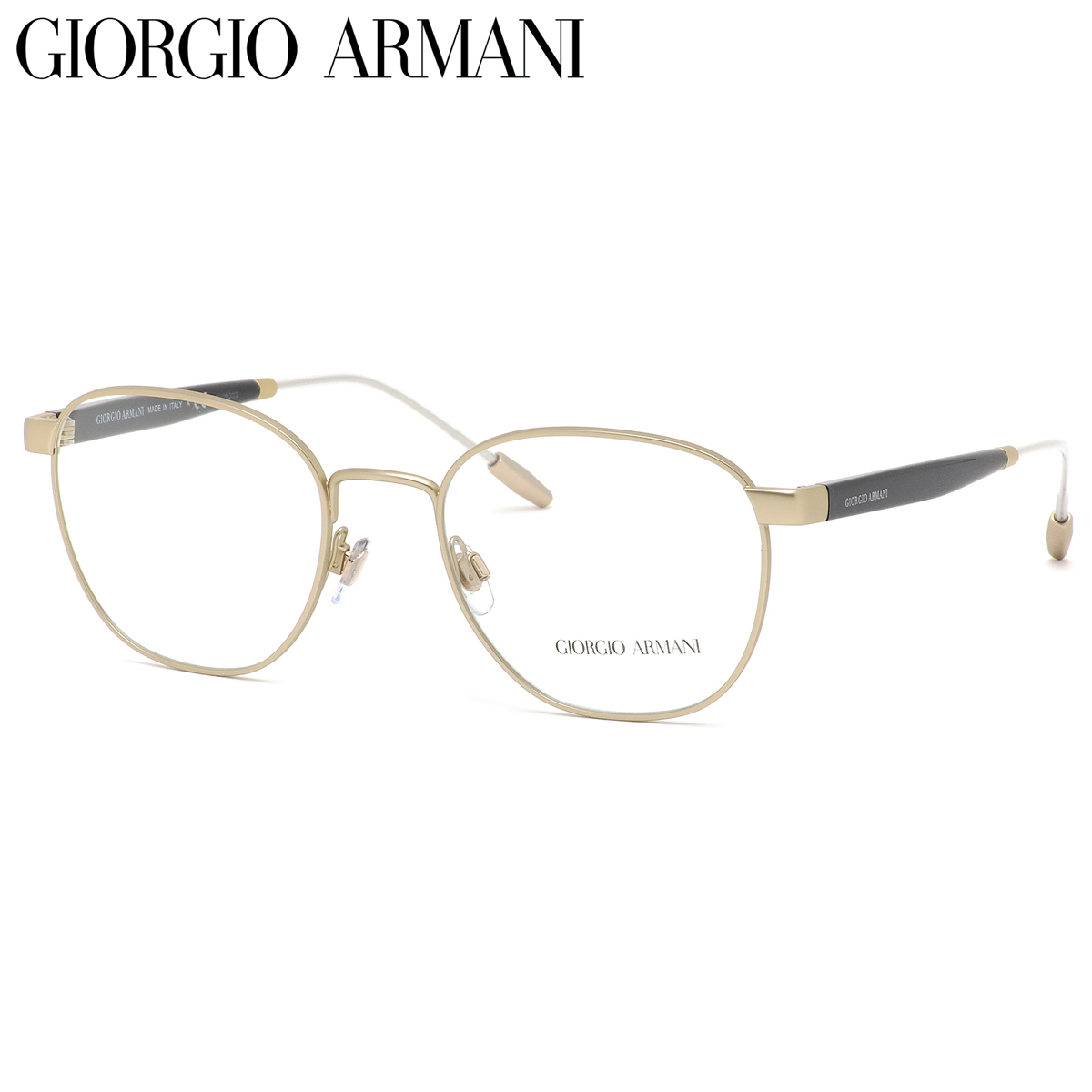 GIORGIO ARMANI ジョルジオアルマーニ メガネ AR5091 3002 52サイズ コンビネーションフレーム 軽い ジョルジオアルマーニGIORGIOARMANI メンズ レディース