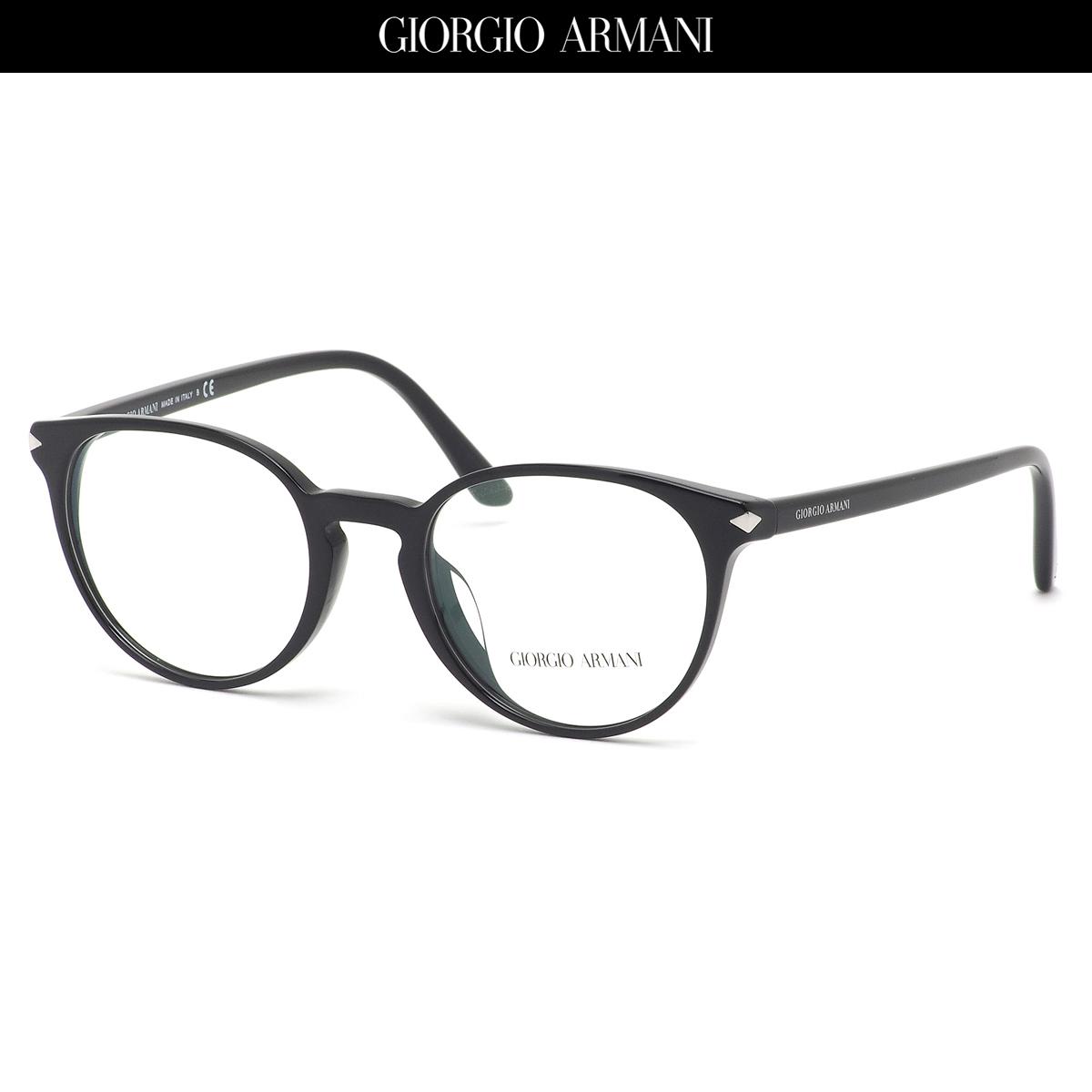 GIORGIO ARMANI ジョルジオアルマーニ メガネ AR7176F 5001 50サイズ キーホールブリッジ 黒縁 ジョルジオアルマーニGIORGIOARMANI メンズ レディース