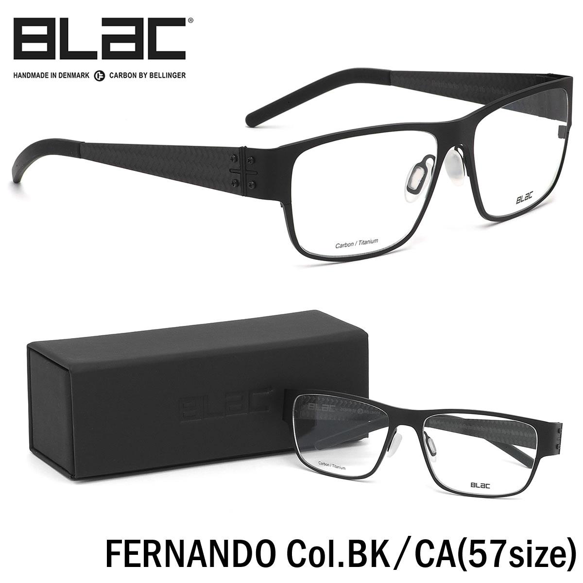 ほぼ全品ポイント15倍~20倍+15倍+2倍 ブラック BLaC メガネFERNANDO BK/CA 57サイズFERNANDO カーボンファイバー CARBON FIBER ハイブリッド Titanium チタニウムブラック BLaC メンズ レディース